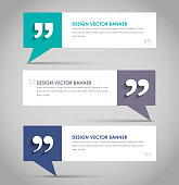 Set of banners with a quote bubble