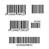 Set of Barcode icons,isolated on white background