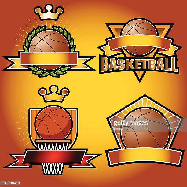 Set of Basketball Emblems
