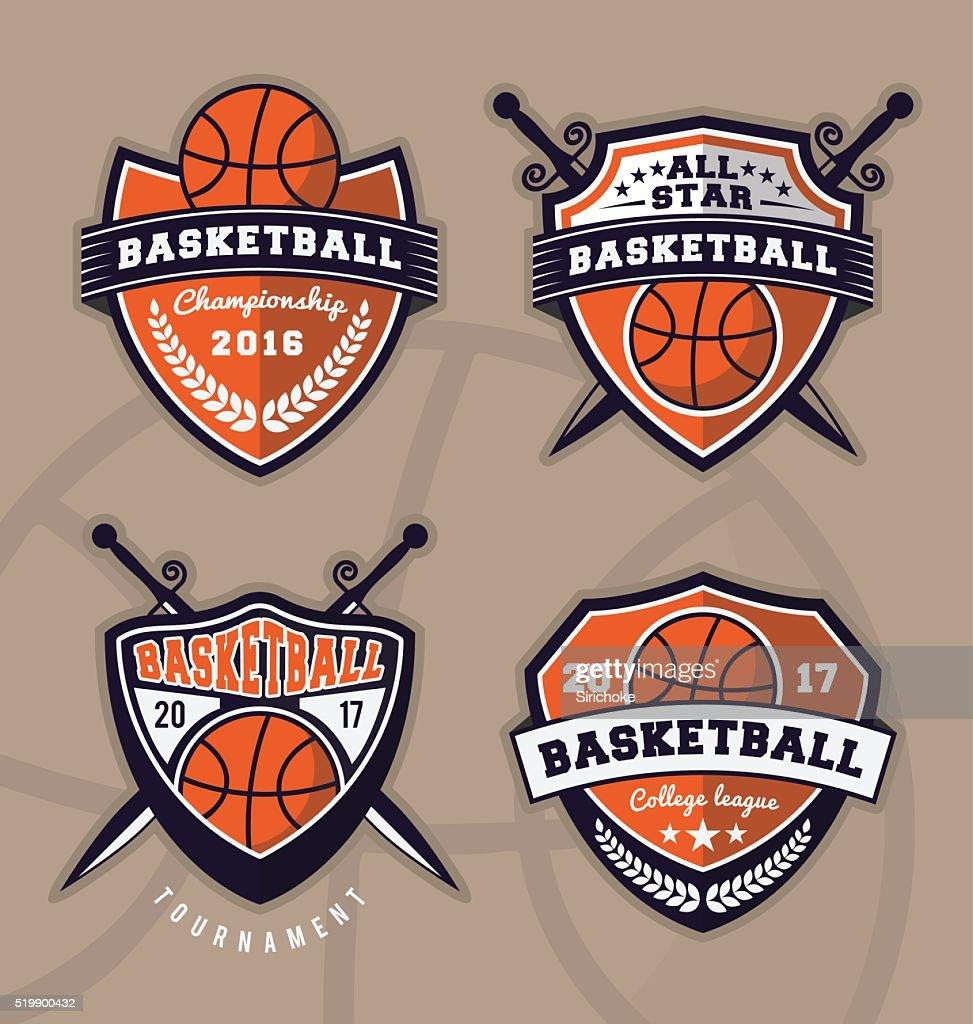 Set of basketball logo design