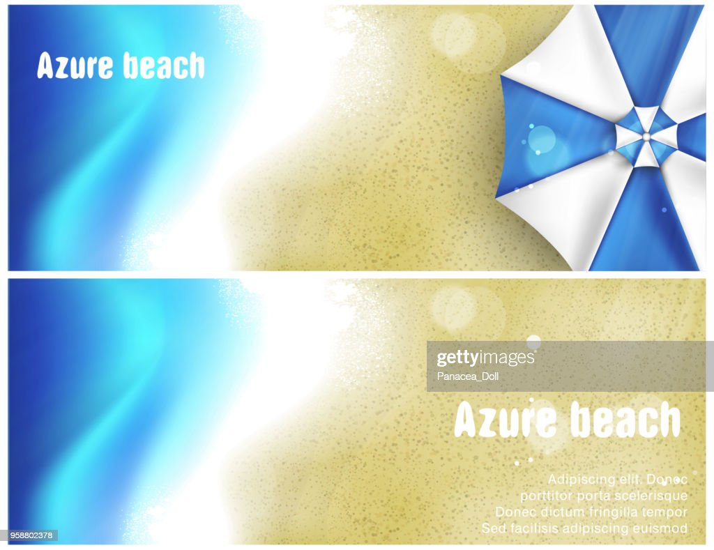 set of beach banner for facebook Poster vector Design