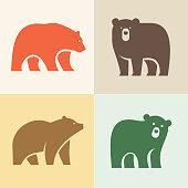 Set of Bear logo