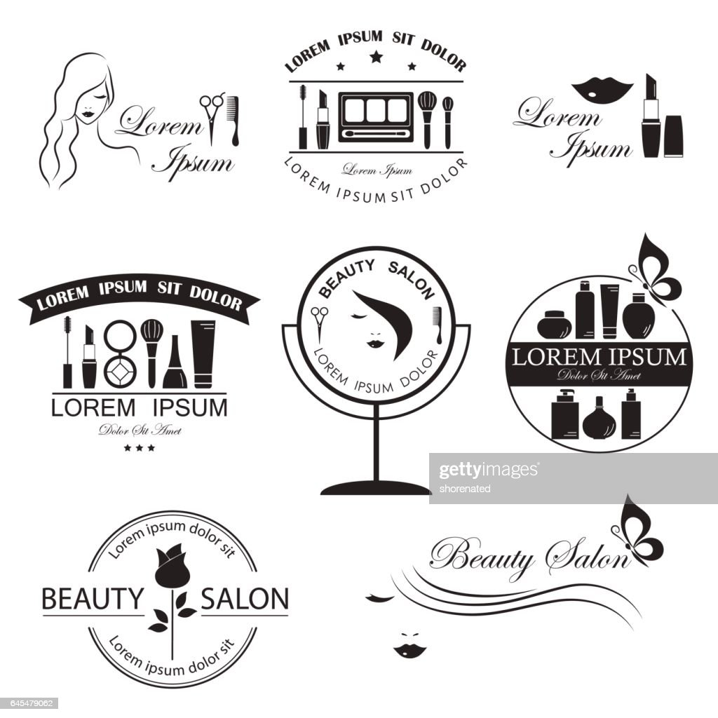 Set of beauty logo templates, labels, badges, design elements for beauty salon, beauty center, cosmetics, spa and wellness