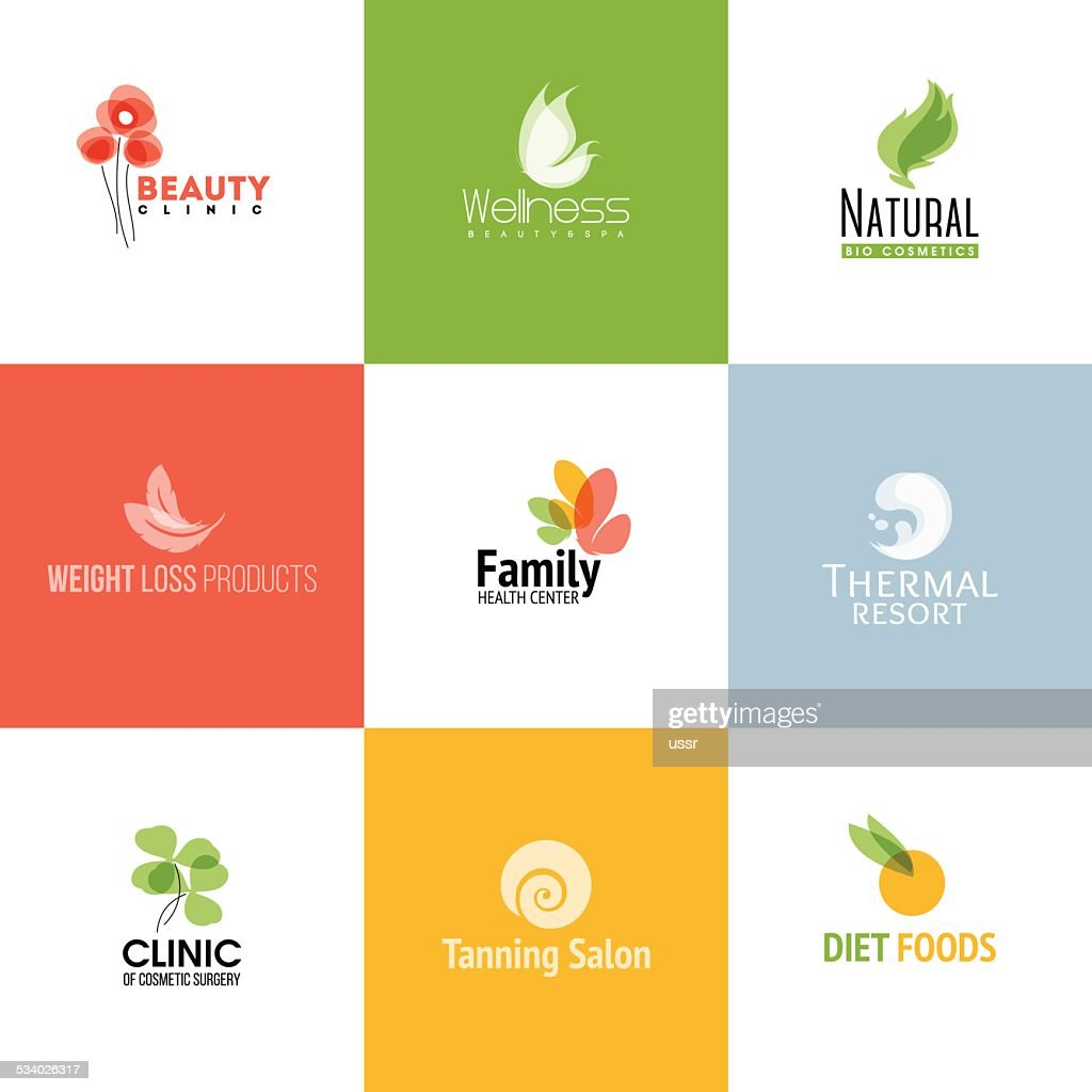 Set of beauty & nature logo templates and icons