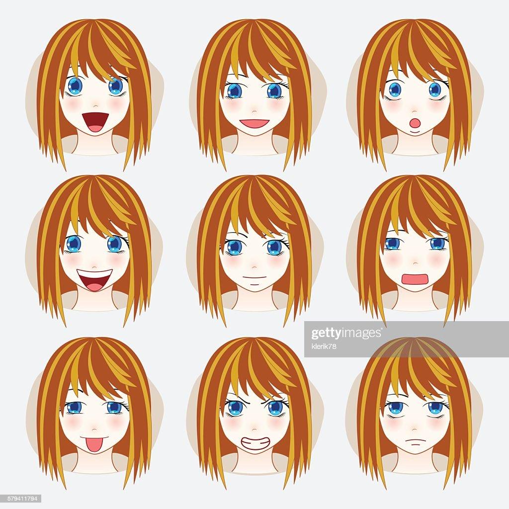 Set of beauty woman avatar