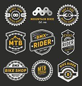 Set of bicycle badge logo template desig
