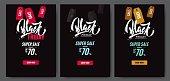 Set of Black friday sale poster.