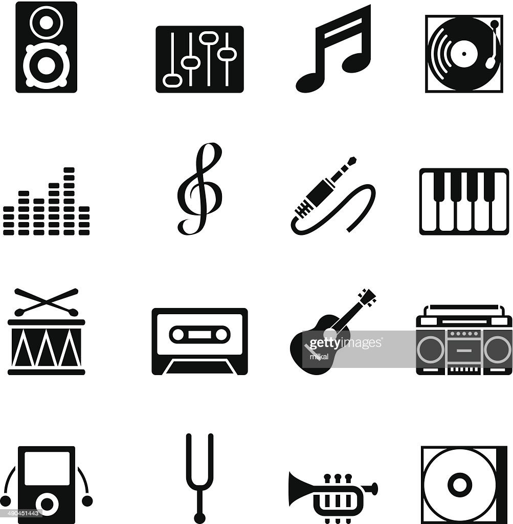 Set of black music icons