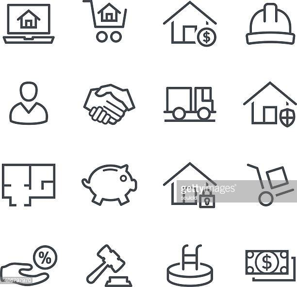 Set of black vector real estate icons