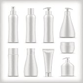 Set of blank cosmetic packaging collection for your design isolated vector illustration