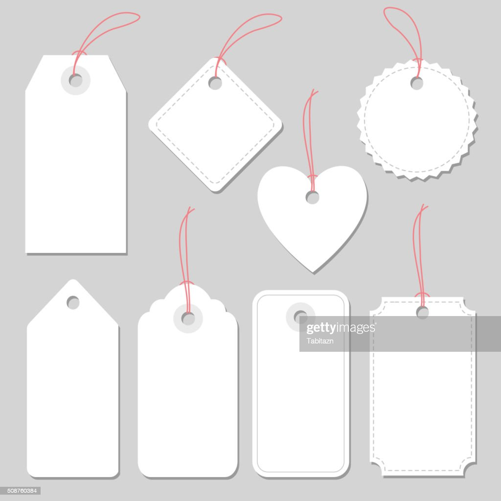 Set of blank vintage frames, tags and labels, isolated vectors