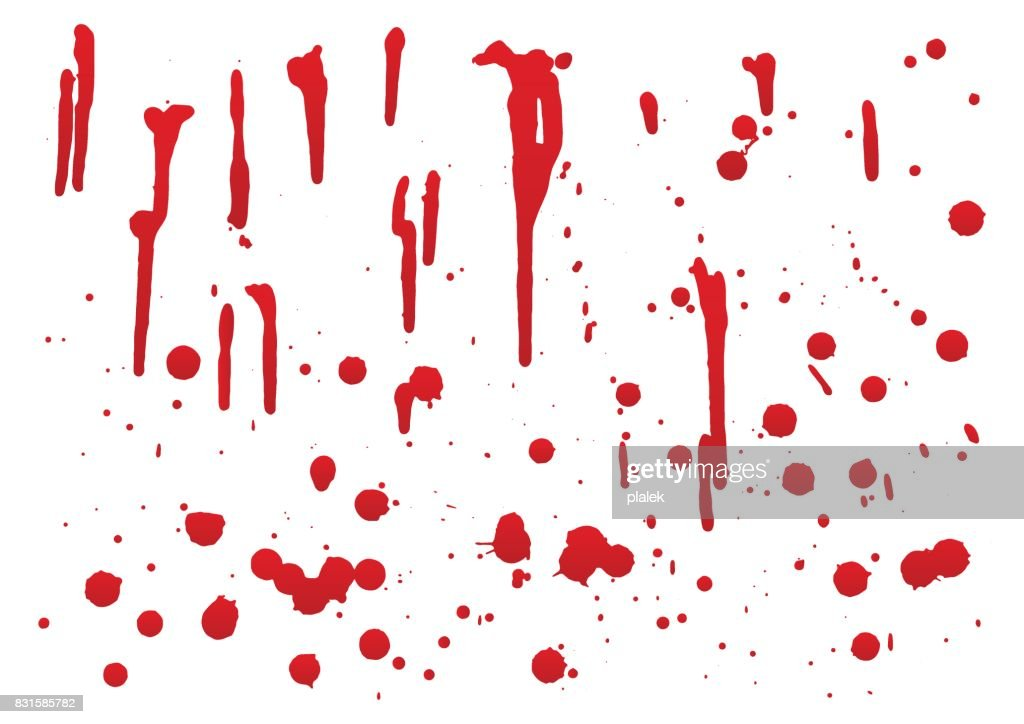 set of blood for halloween decoration, vector illustration, set 2