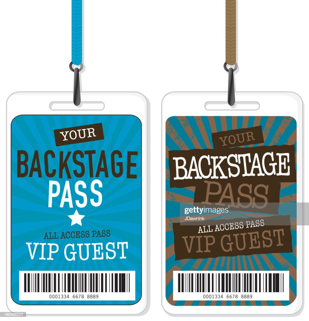 set of blue and brown backstage pass template designs free printable santa letter template