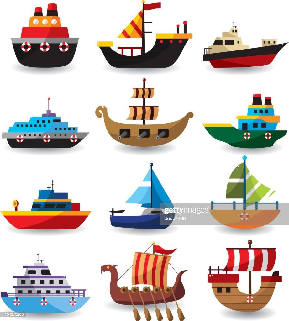 set of boat : stock illustration