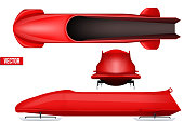 Set of Bobsleigh for four athletes.