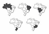 A set of Brazil maps