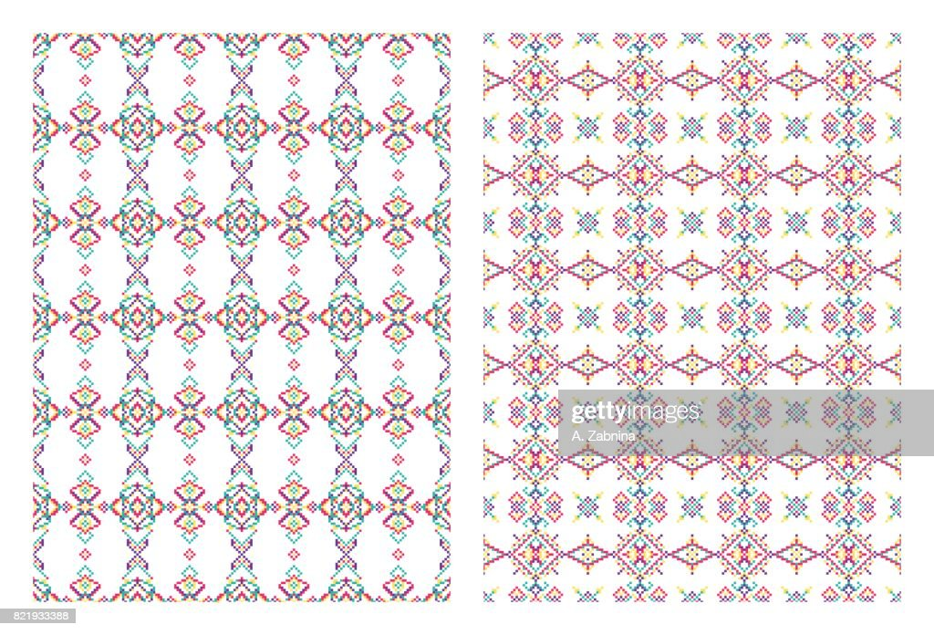 set of bright patterns : stock illustration