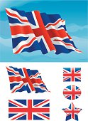 Set of British flag
