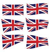 Set of british flags