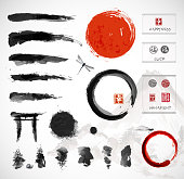 Set of brushes and other design elements,