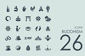 Set of buddhism icons