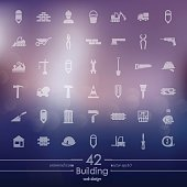 Set of building icons
