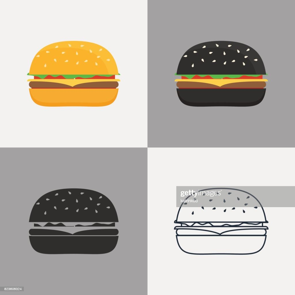 Set of burger icons