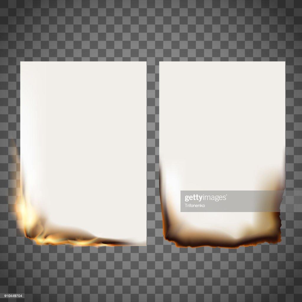 Set of burning sheet