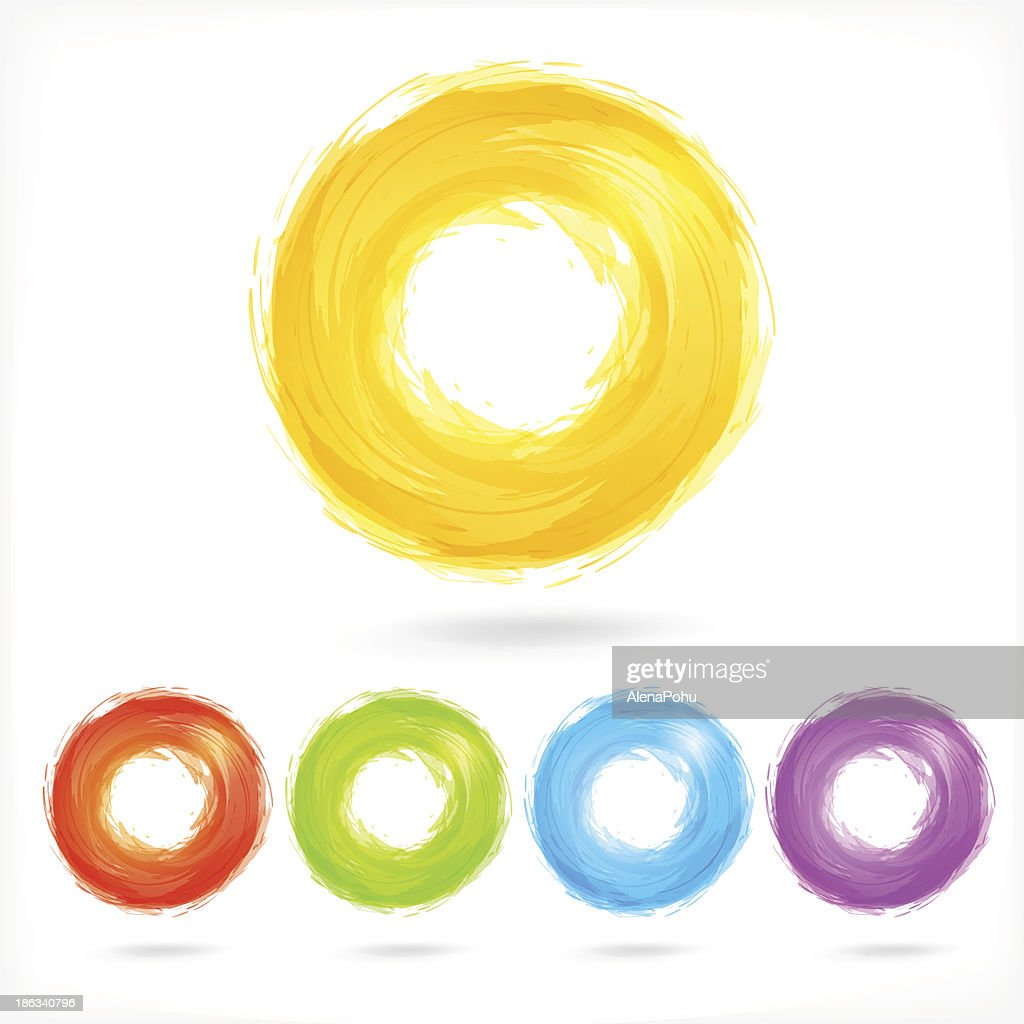 Set of Business Abstract Circle icons.