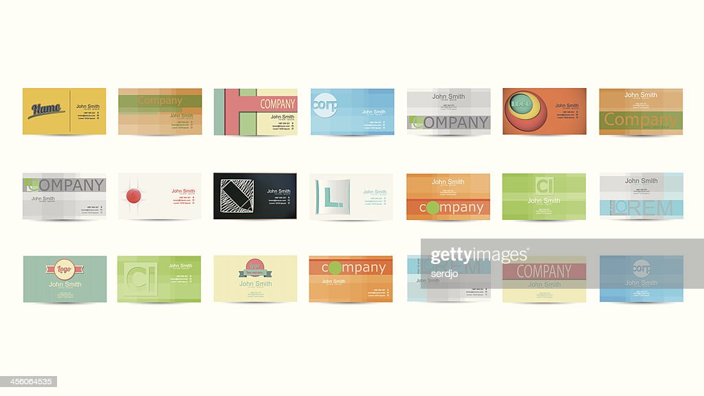 Set of Business Card in Vector