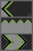 Set of business cards with abstract pattern