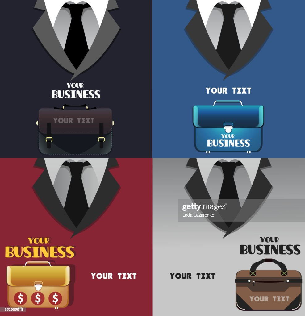 Set of business colored backgrounds with space for text