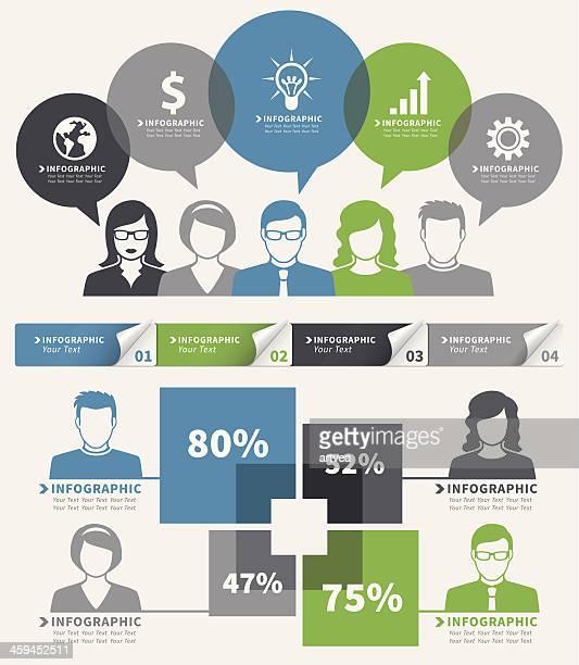 Ensemble d'éléments d'infographie