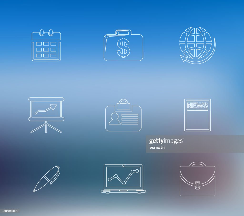 Set of business line icons