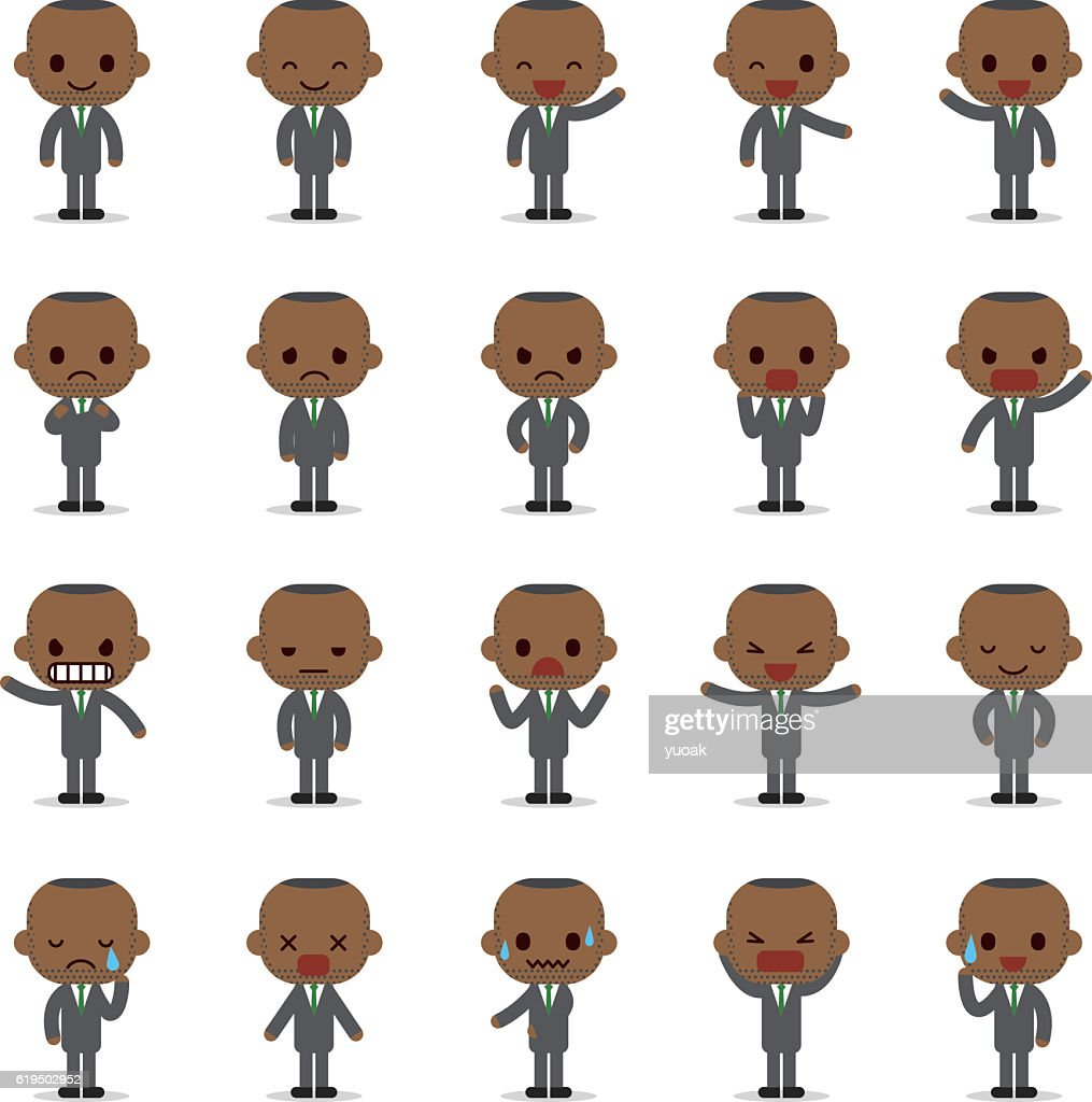 Set of business man character : stock illustration