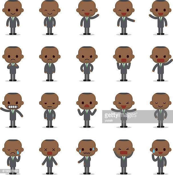 Set of business man character