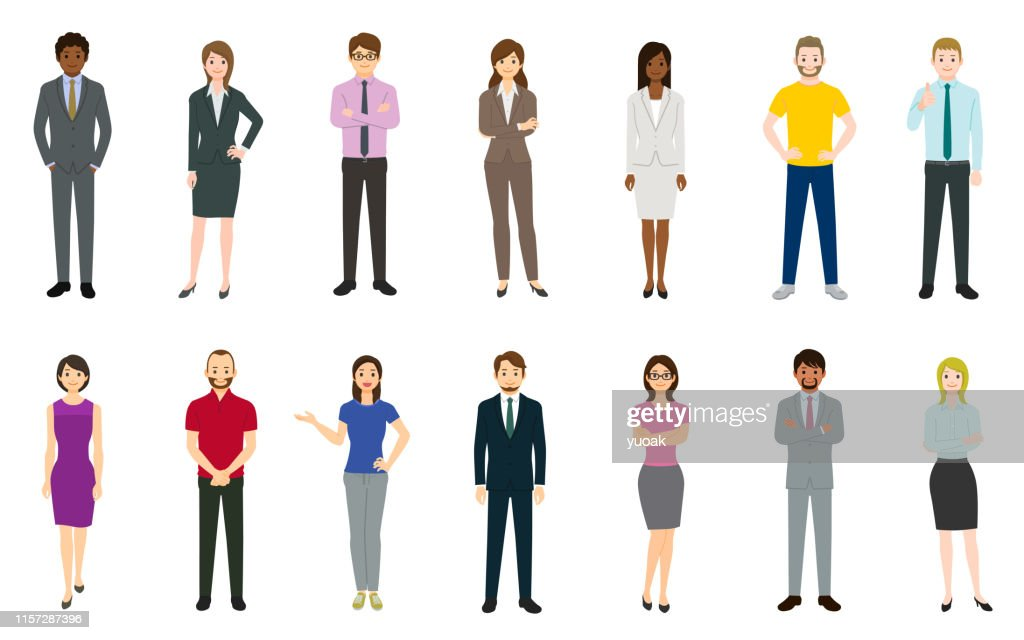 Conjunto de empresarios : Ilustración de stock