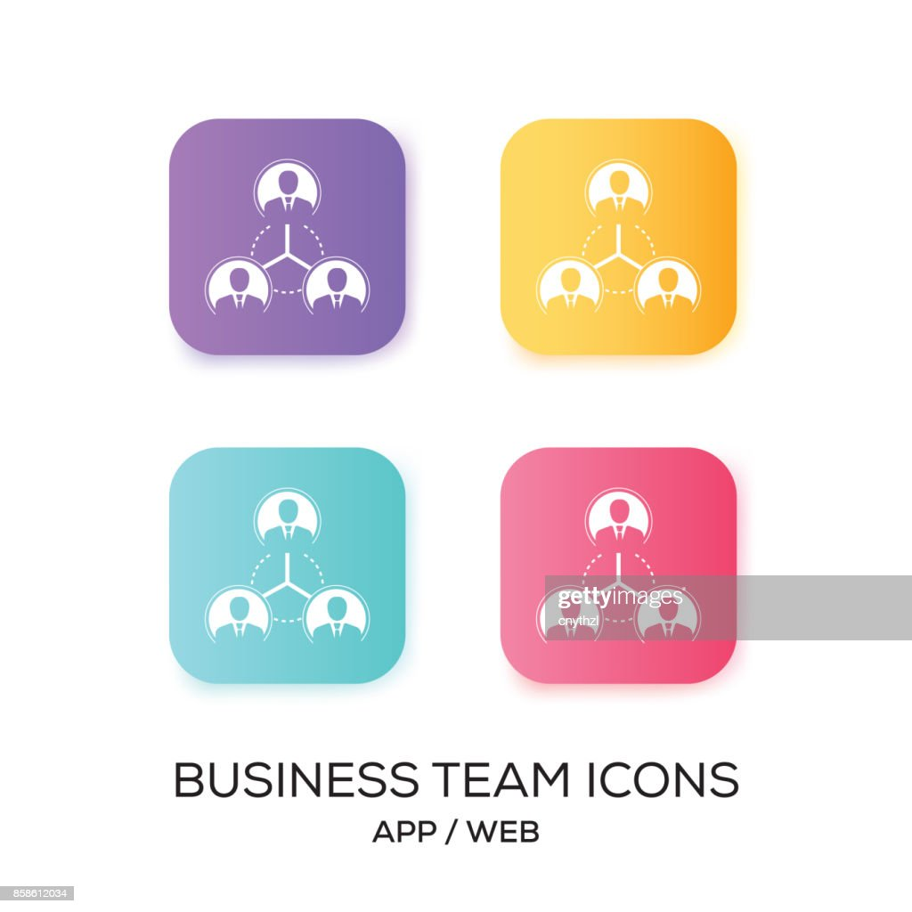 Reihe von Business-Team-App-Symbol : Stock-Illustration