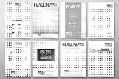 Set of business templates for brochure, flyer or booklet. Halftone