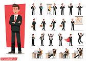 Set of Businessman character design.