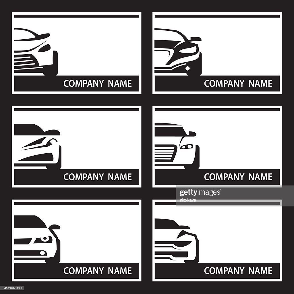 set of car labels