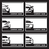 set of car labels