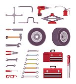 Set of car toolls
