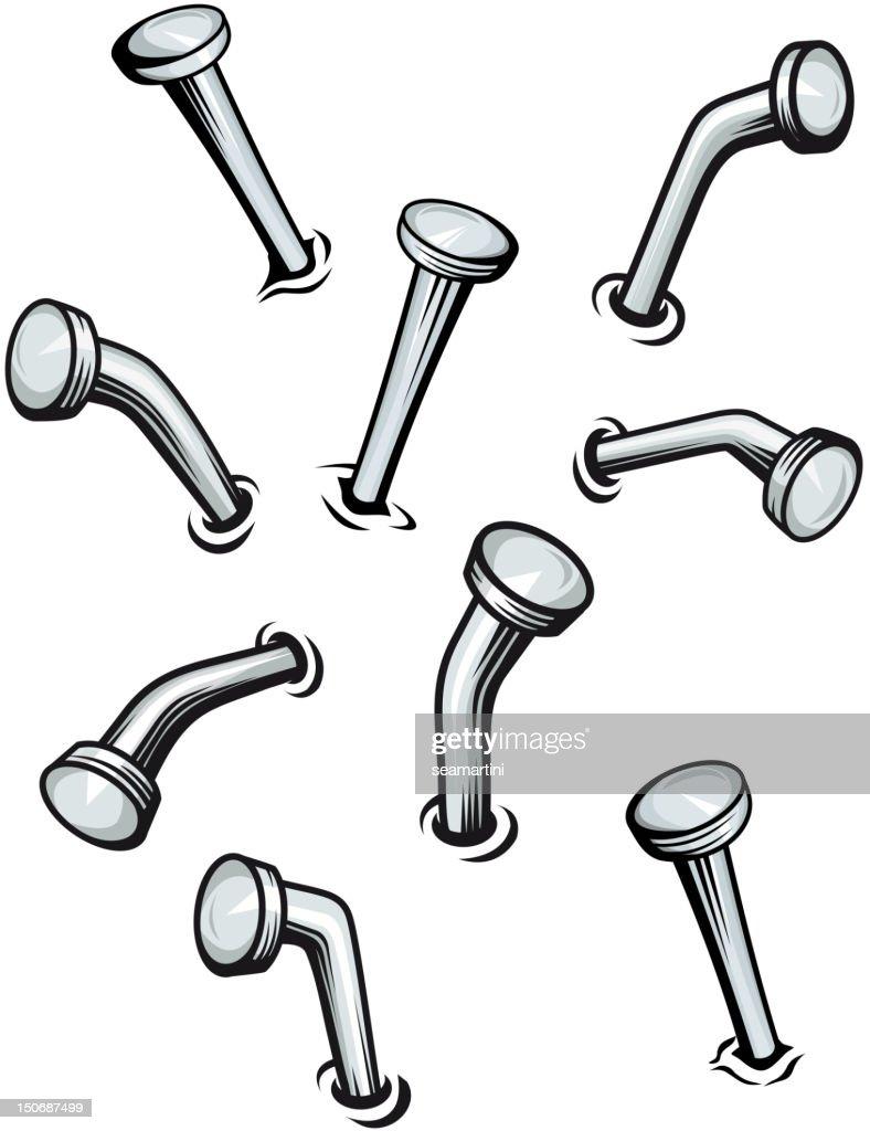 Set of cartoon nails