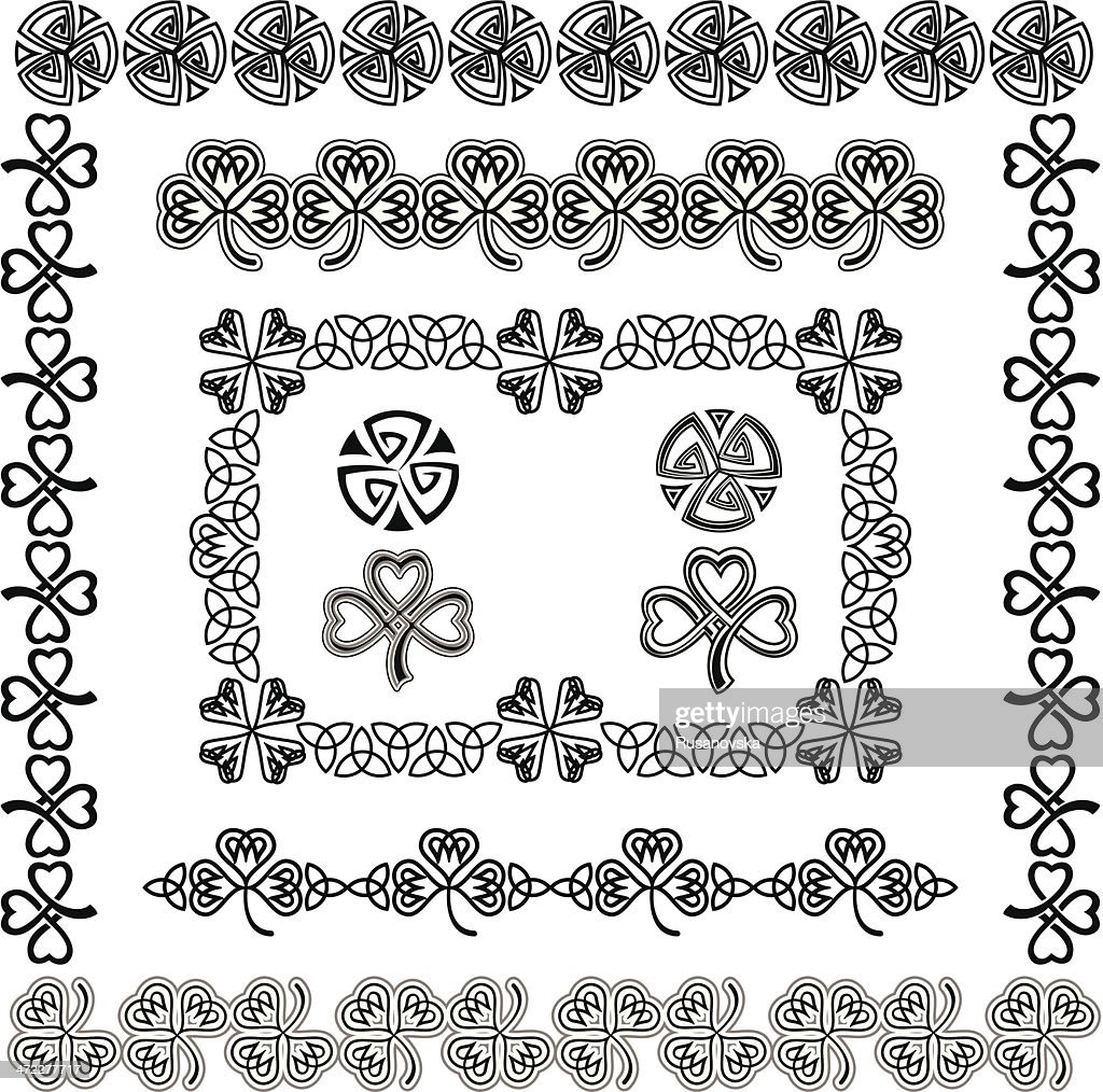 Set of Celtic Design Elements (Black&White)