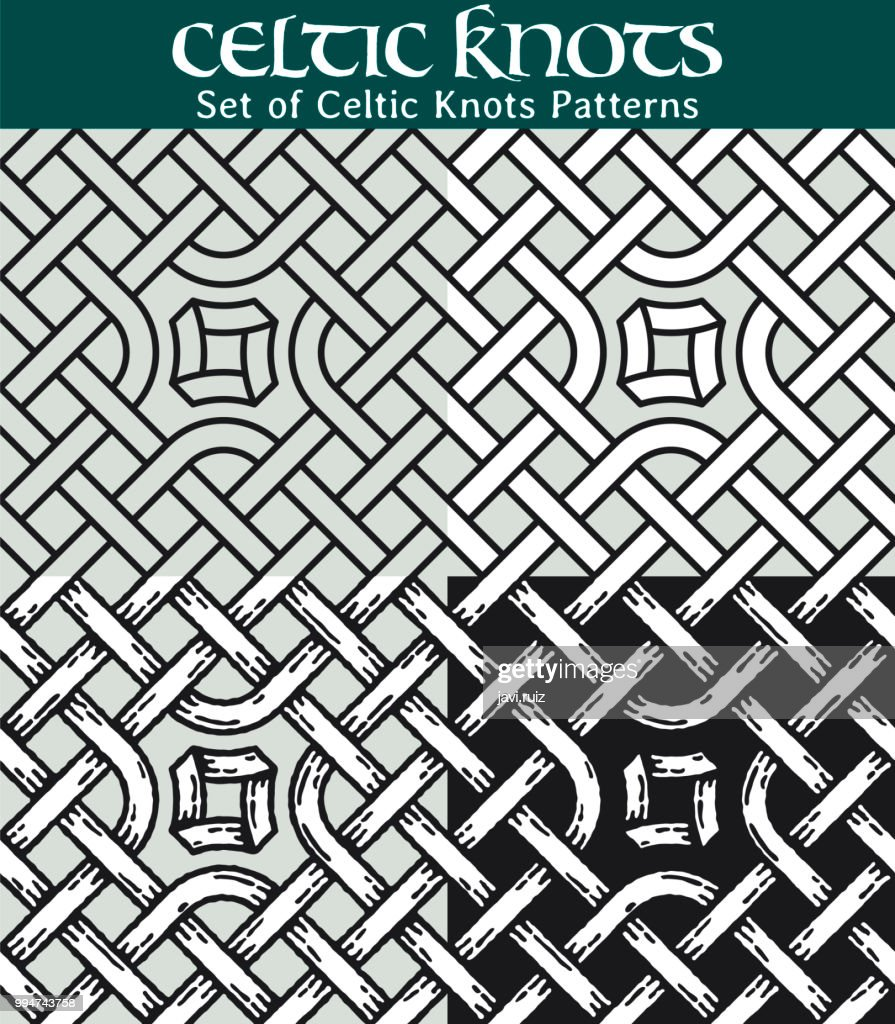 Set of Celtic Knots Patterns