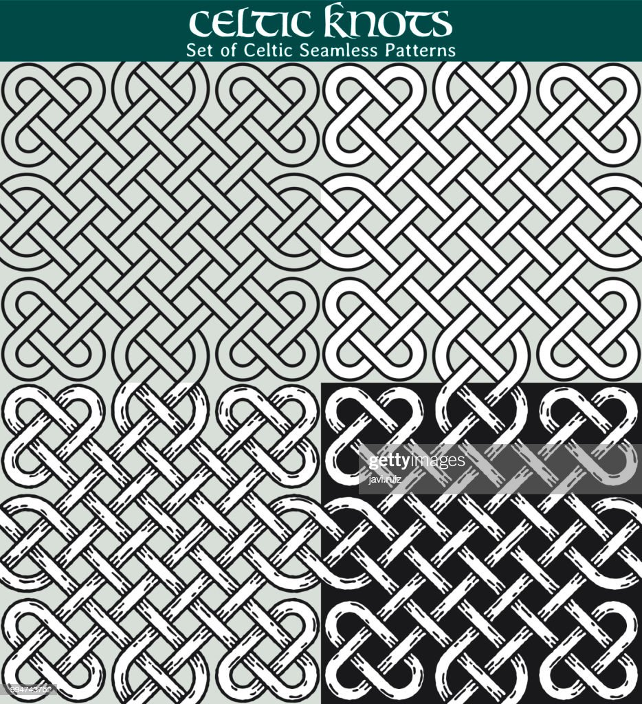 Set of Celtic Seamless Patterns