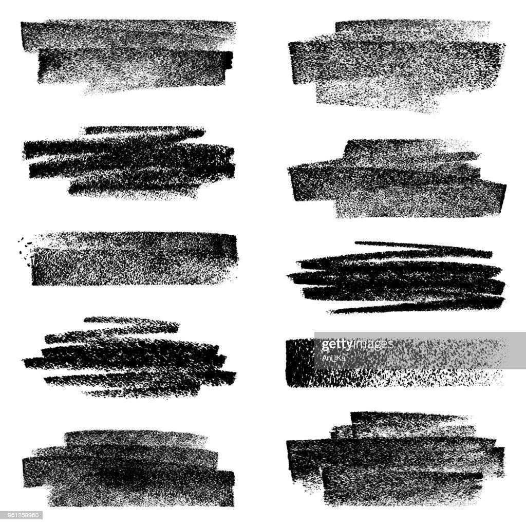 Satz von Kreide Bewegungen : Stock-Illustration