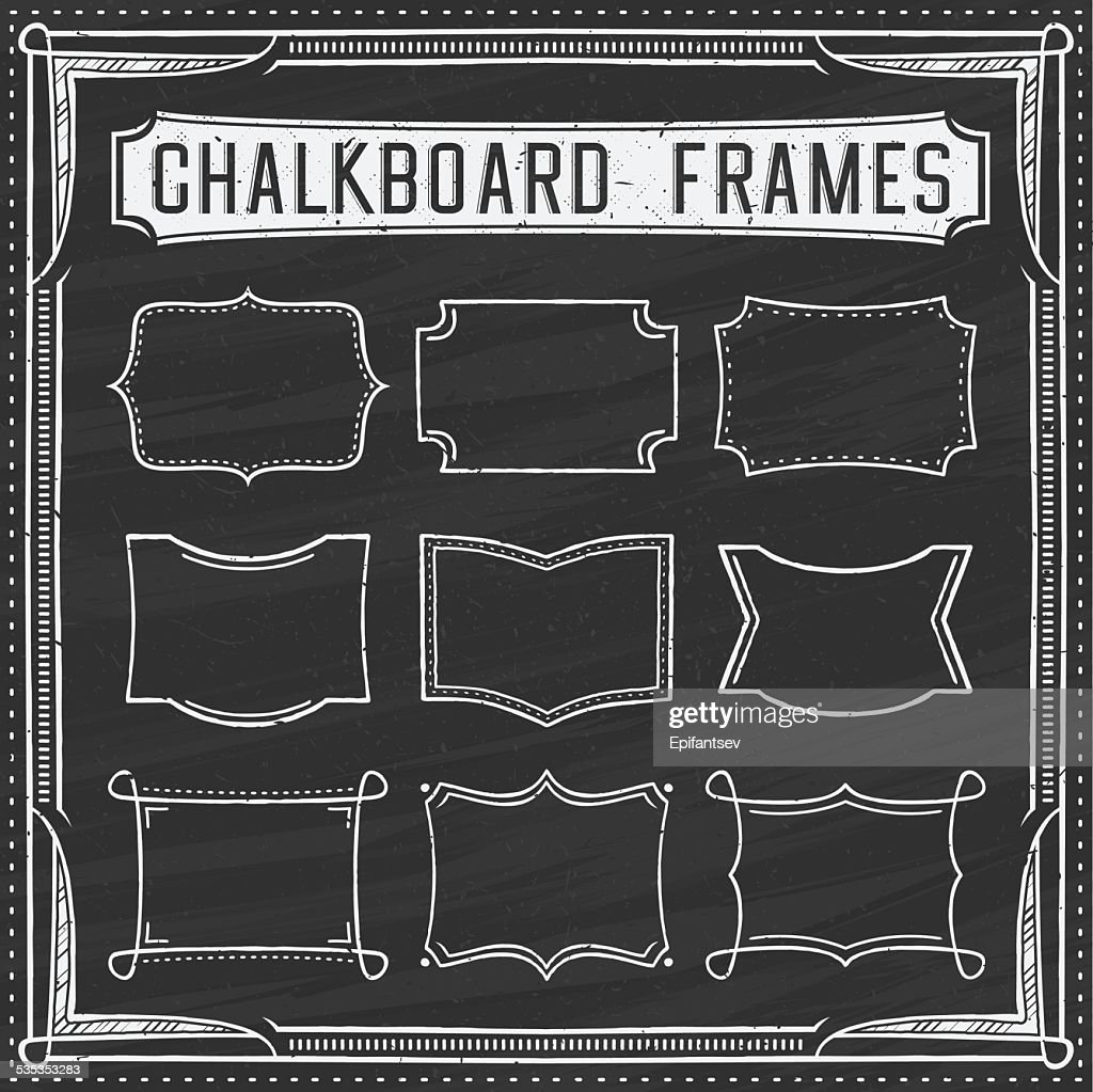 Set of Chalkboard Frames - Design Elements - Illustration