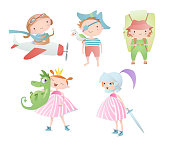 Set of characters. Funny children.